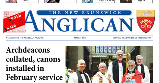 New Brunswick Anglican March 2018 image