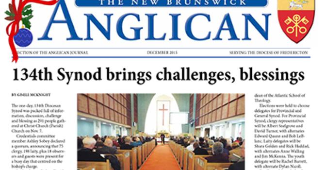 New Brunswick Anglican December 2015 image