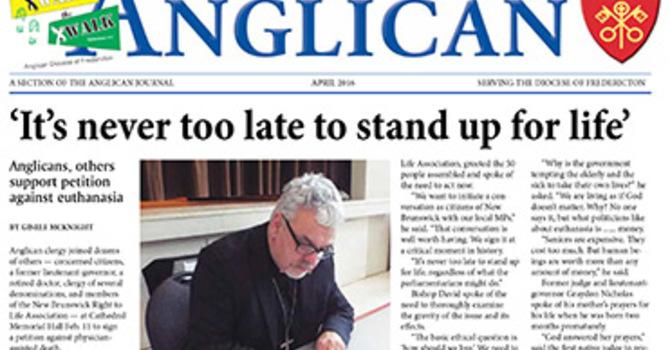 New Brunswick Anglican April 2016 image