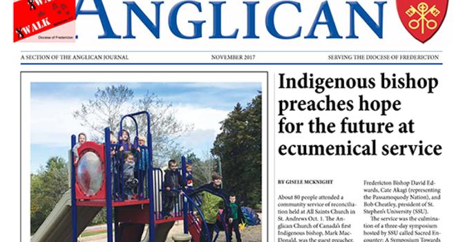 New Brunswick Anglican November 2017 image
