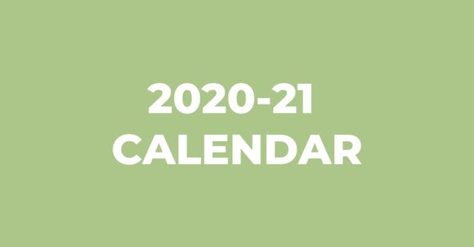 2020-21 Calendar