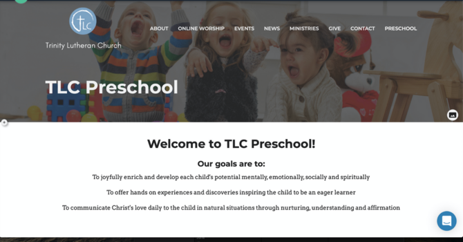 TLC Preschool Website image
