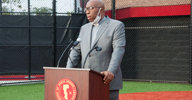 Pastor Greg Prays for the North Bergen Girl's Softball Progam image
