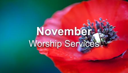 November 2020 Worship Series