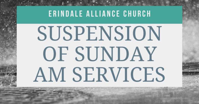 Sunday AM Service Suspended image