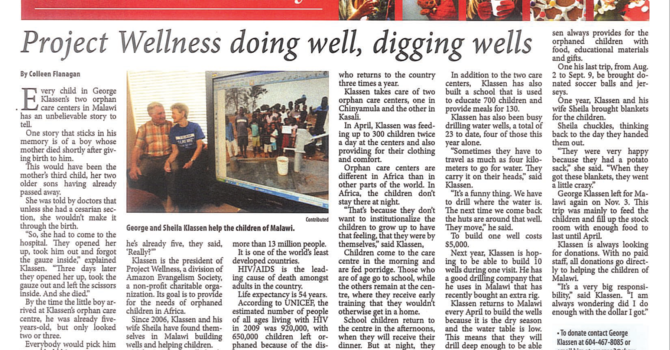 Maple Ridge News: Project Wellness doing well, digging wells image