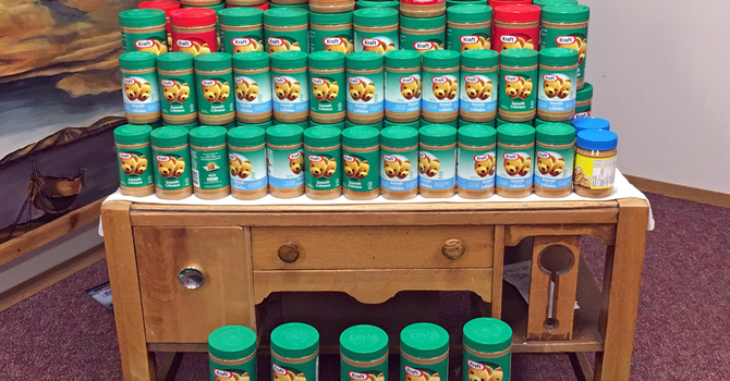 Wainwright and Edgerton Parishes Collect Peanut Butter for Food Banks image
