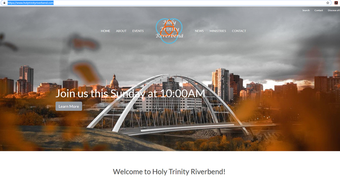Holy Trinity Riverbend launches new website image