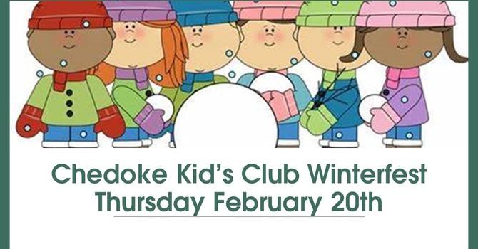 "Kid's Club  ""Winterfest"" ~ Thurs. Feb. 20, 2020 image"