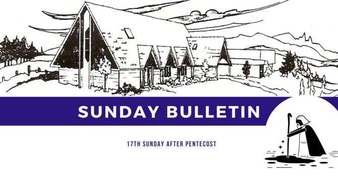 Bulletin - Sunday, September 27, 2020 image