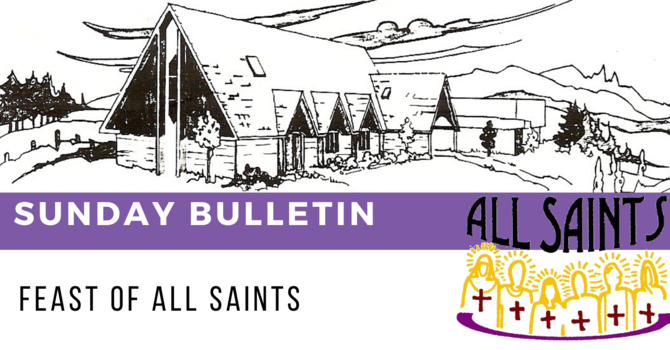 Bulletin - Sunday, November 1, 2020 image
