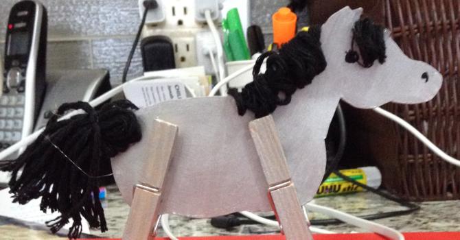 Clothespin Donkey