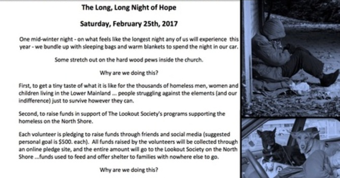 The Long, Long Night of Hope 2017 Sleepover