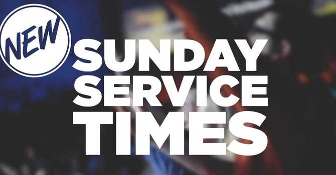 Sunday Worship Times  image