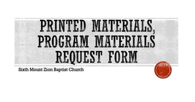 Printed Materials, Flyers, Program Design Request Form