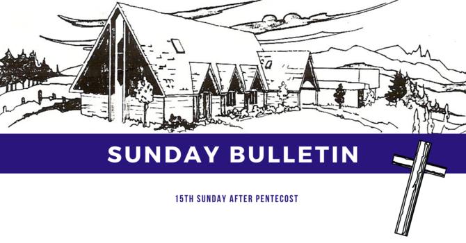 Bulletin - Sunday, September 13, 2020 image
