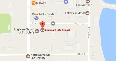 Map to Abundant Life Chapel in Lac du Bonnet, MB