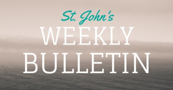 St. John's Weekly Bulletin - March 15, 2020 image