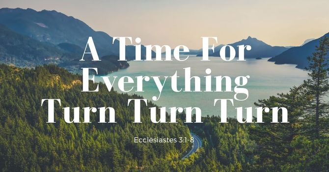A Time For Everything: Turn Turn Turn