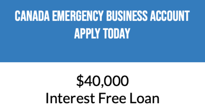 Apply for the Canada Emergency Business Account at your bank today! image