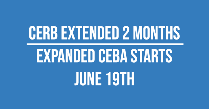 CERB Extended | Business Owners who did not qualify previously - expanded CEBA starts June 19th image