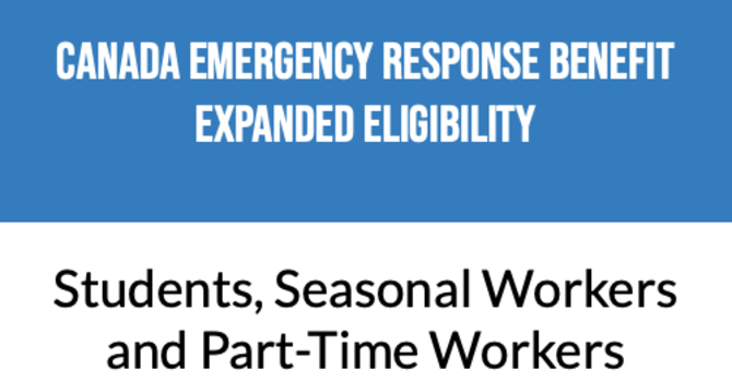 Expanded eligibility for Canada Emergency Response Benefit (CERB) & Boosted wages for Essential Workers image