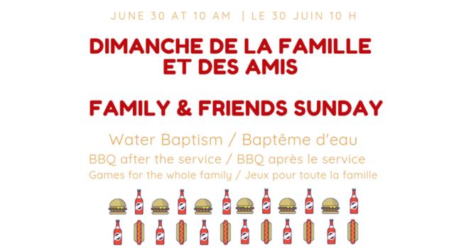 Family & Friends Sunday  image