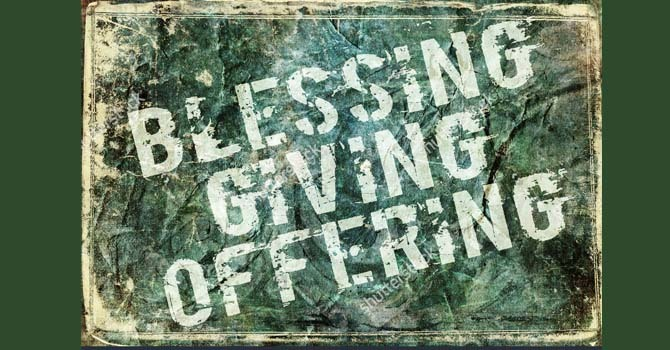Blessing Giving Offering image