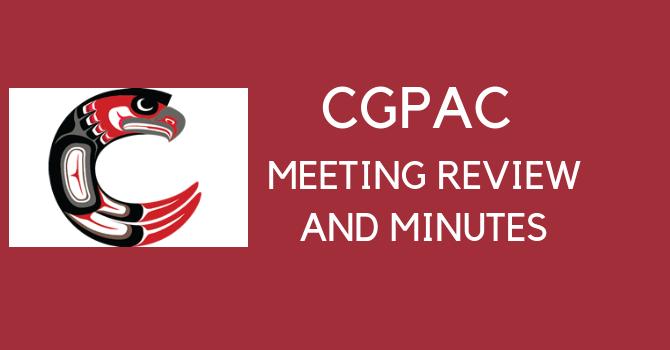 CGPAC Meeting Review & Minutes May 23, 2018