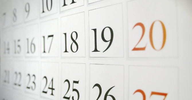 Calendar Feature now on website! image