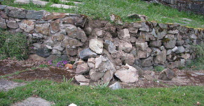 Dry Stone Wall Repair in St. Luke's Cemetery image