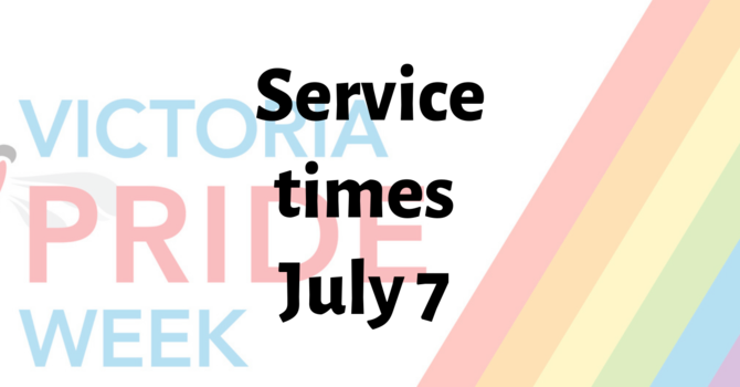 Jul. 7th Parish Eucharist 9.30am; Pride Evensong 7.30pm