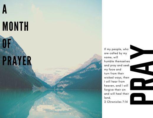 A Month of Prayer