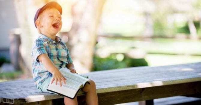 Have you ever laughed while reading the Bible? image