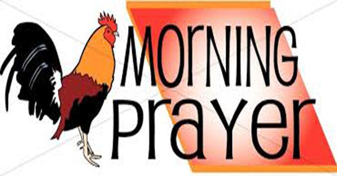 Men's Morning Prayer.