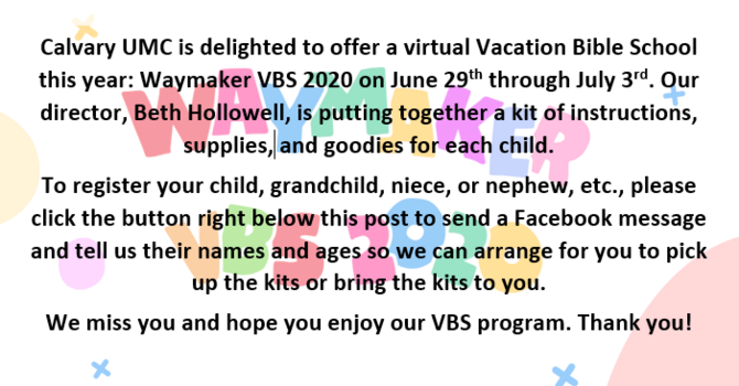 Waymaker 2020 Virtual VBS Program image