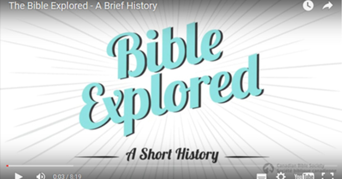 The Bible Explored - A brief history image