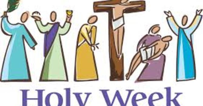 Holy Week Bulletins image