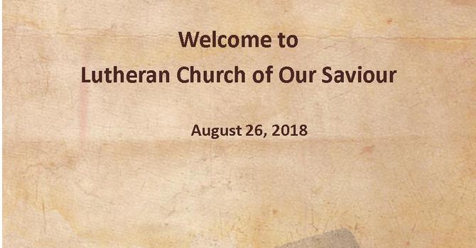 Sunday Bulletin - August 26, 2018 image