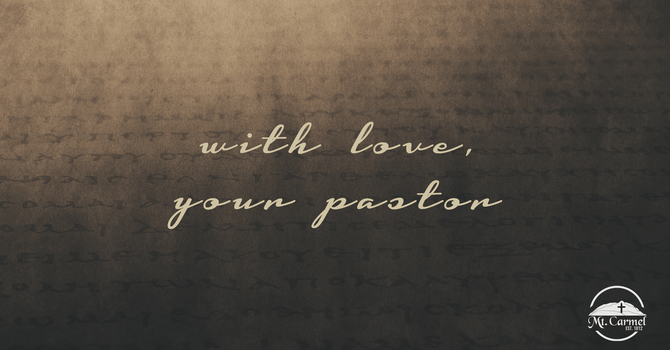 Letter from Pastor Brian image