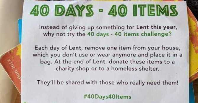 Great Idea for Lent image