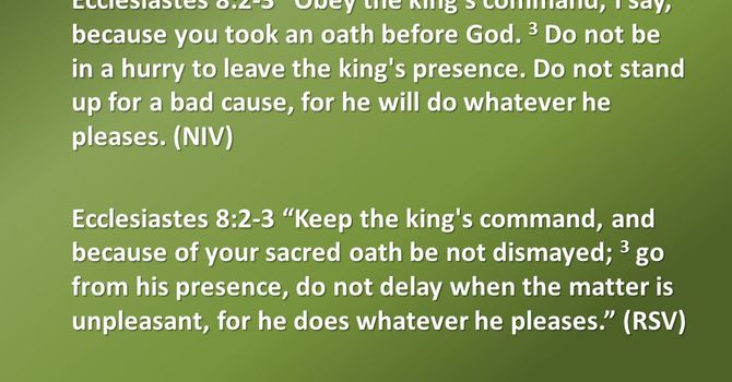 Obedience to the King image