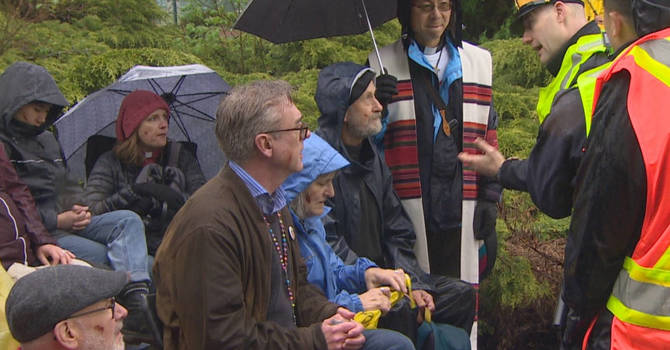 Faith leaders protest Trans Mountain pipeline expansion in Burnaby image