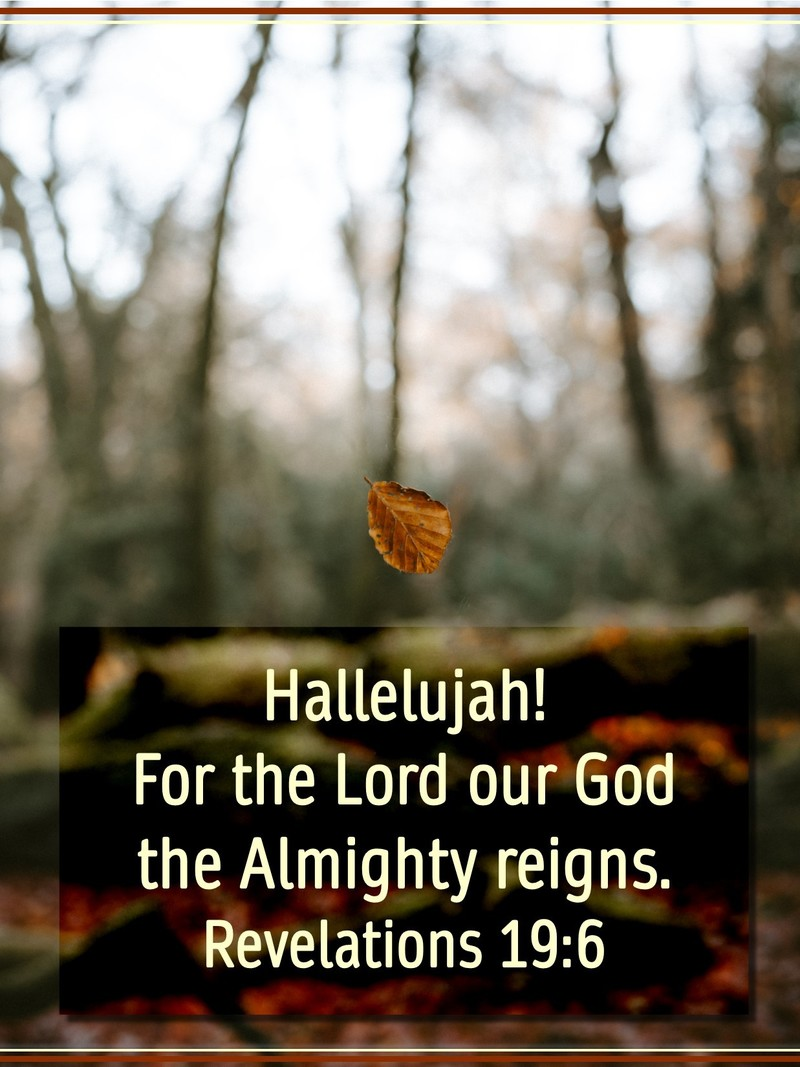 The Lord God Almighty Reigns!