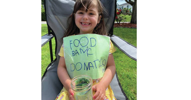 Birthday Girl Raises over $1,000 for CV Food Bank image