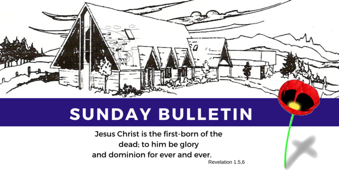 Bulletin - Sunday, November 10, 2019 image