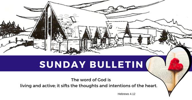 Bulletin - Sunday, October 20, 2019 image