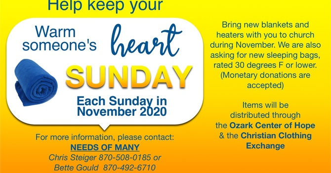 Warm a Heart Sundays November 2020 image