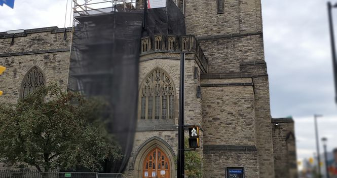 Tower Buttresses have been repaired