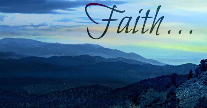 Where Is Your Faith? image